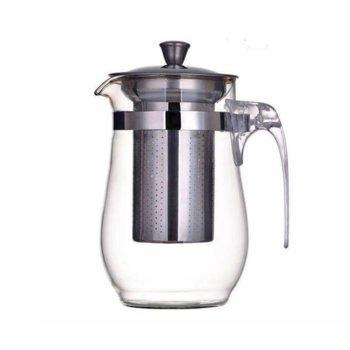 Стъклен чайник с цедка OEM 2629-20, 1 литър, Стомана/стъкло image