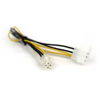 Захранващ кабел VCom CE309 4pinMolex(м)-4pin ATX(м), 0.3m image