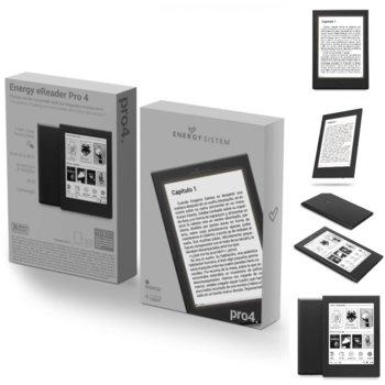 """Електронна книга Energy Sistem eReader Pro 4, 6"""" (15.24cm) 166 ppi Anti-glare дисплей, 8GB вътрешна памет, до 6 седмици работа, Wi-Fi, черна image"""
