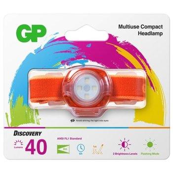 Челник GP Batteries CH31, 2x CR2025, 45lm, оранжев image