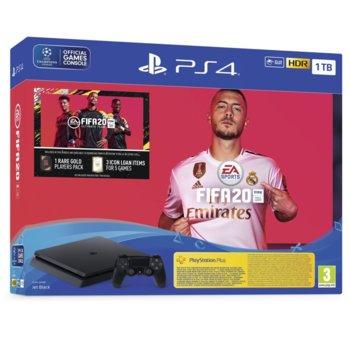 Конзола Sony PlayStation 4 Slim 1TB в комплект с FIFA 20, черна image