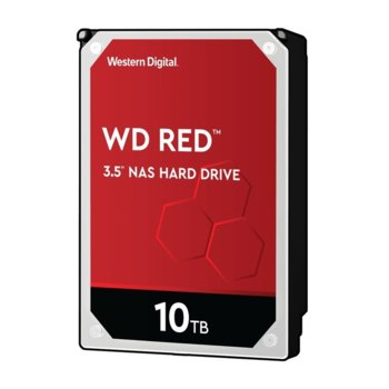 "Твърд диск 10TB Western Digital RED, SATA3 6 Gb/s, 5400rpm, 256MB, 3.5"" (8.89 cm) image"