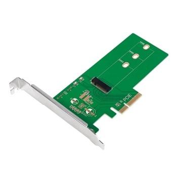 Контролер LogiLink PC0084, от PCI-E 3.0 x4 към M.2 (NVMe) SSD, 42mm, 60mm и 80mm image