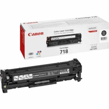 Тонер касета за Canon i-SENSYS LBP7200/MF8330Cdn/MF8350Cdn/MF724Cdw/MF728Cdw/MF729Cx, Black - CRG-718BK - P№ 2662B002, заб.: 3400 брой копия image