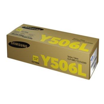 Касета за Samsung CLT-Y506L - SU515A - Yellow - заб.: 3500 брой копия image