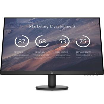 """Монитор HP P27v G4 (9TT20AA), 27"""" (68.6 cm) IPS панел, Full HD, 5ms, 300 cd/m2, VGA, HDMI image"""