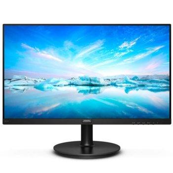 """Монитор Philips 221V8A, 21.5"""" (54.61 cm), VA LED, 75 Hz, Full HD, 4ms, 4000:1, 200cd/m², HDMI, VGA image"""