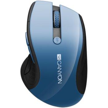 Мишка Canyon CNS-CMSW01BL, оптична(1600 dpi), безжична, USB, синя image
