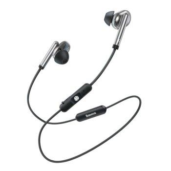 Слушалки Baseus Encok S30, безжични (Bluetooth 5.0), микрофон, контрол на звука, IPX5 водоустойчиви, сребристи image