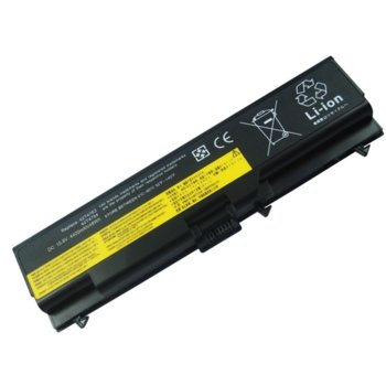 Батерия (заместител) за лаптоп Lenovo Thinkpad, съвместима с модели L420 L430 L520 L530 T420 T520 T530 W520 W530 45N1001, 11.1V 5200mAh 6 cell image