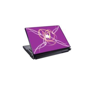 Декорация /скин/ Fullmark LS0001, за лаптопи до 26.7 x 39.37cm, лилав image