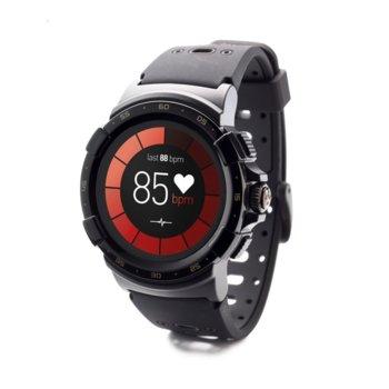 """Смарт часовник MyKronoz ZeSport 2, 1.34""""(3.40cm) дисплей, Bluetooth, водоустойчив IP66, до 3 дни време за работа, черен image"""