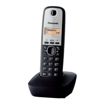 Безжичен телефон Panasonic KX-UDT121, двуредов чернобял дисплей, вътрешен/външен обхват 300/50м, до 15 часа в режим на разговор, черен image