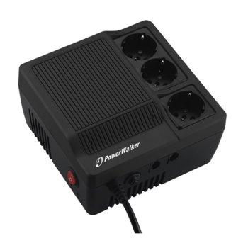 Стабилизатор PowerWalker 1000, 1000VA/600W   image
