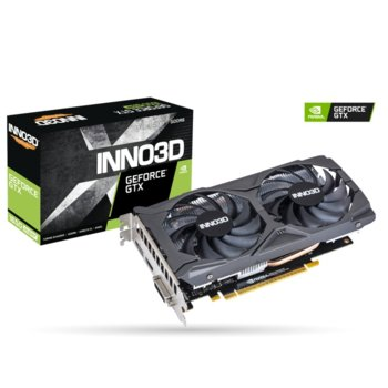 Видео карта Nvidia GeForce GTX 1650 Super, 4GB, Inno3D GeForce GTX 1650 Super Twin X2 OC, PCI-E 3.0, GDDR6, 128bit, DisplayPort, HDMI, DVI image