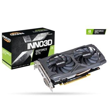 Видео карта Nvidia GeForce GTX 1650 Super, 4GB, Inno3D GeForce GTX 1650 Super Twin X2 OC, PCI-E 3.0, GDDR6, 128bit, DisplayPort, HDMI, DVI image