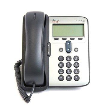 VoIP телефон Cisco 7906G, 192х64-pixel графичен LCD дисплей, PoE, черен/сребрист image