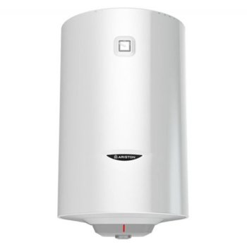 Електрически бойлер Ariston Pro 1 R VTD, 100л, вертикален, 1.8 kW, титаниево покритие, енергиен клас C, 90 x 45 x 48 cm image