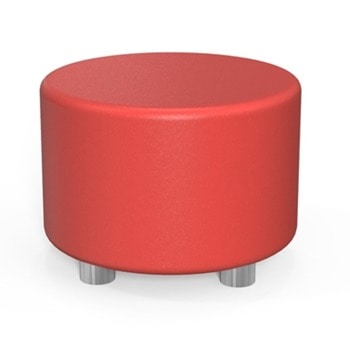 Табуретка RFG Circle, еко кожа, MDF основа, червена image