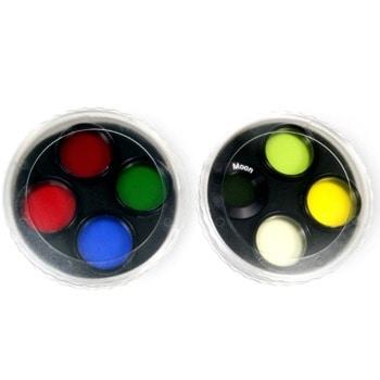 """Комплект филтри за телескоп Levenhuk F8 """"Слънчева система"""", включва светложълт/жълто-зелен/жълт/светлочервен/червен/светлозелен/син филтър, 1.25mm диаметър на цилиндъра image"""
