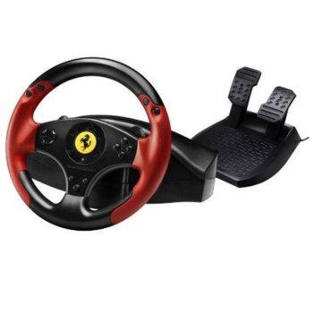 Волан с педали Thrustmaster Ferrari Red Legend Edition, 2 странични лоста, за PC/PS3 image
