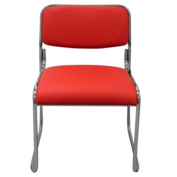 Посетителски стол RFG Axo M (ON4010100306), екокожа, 120 кг. максимално натоварване, червен image