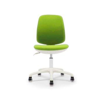 Детски стол RFG Lucky White, дамаска, зелена седалка, зелена облегалка image