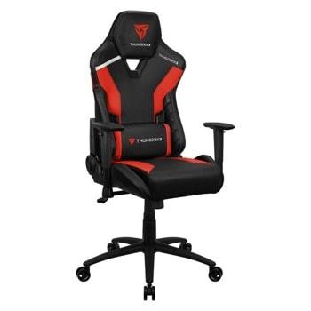 Геймърски стол ThunderX3 TC3 Ember Red, до 150кг, газов амортисьор, люлеещ механизъм, червен  image
