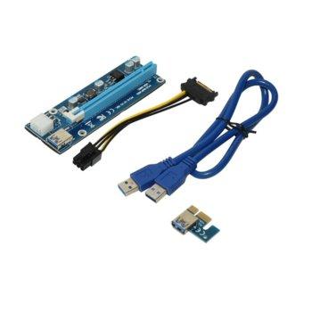 Контролер/екстендер Makki MAKKI-SR135-270 008C, от PCI-E x1 към PCI-E x16 през USB 3.0 кабел, PCI-E SATA захранващ кабел, за добив на криптовалути image
