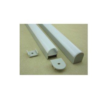LED алуминиев профил M001D-RM, 22x20mm, 2m дължина, за ленти до 16mm  image