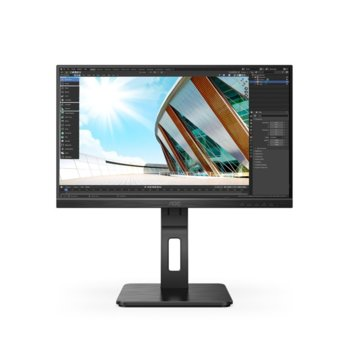 """Монитор AOC 22P2DU, 21.5"""" (54.61 cm) IPS панел, 75Hz, Full HD, 4 ms, 50M:1, 250cd/m2, HDMI, DVI, VGA, USB HUB image"""