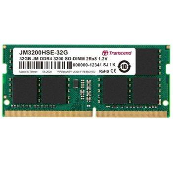 Памет 32GB DDR4 3200Mhz, SO-DIMM, Transcend JM3200HSE-32G, 1.2V image