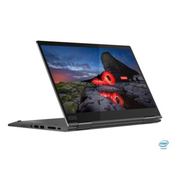 "Лаптоп Lenovo ThinkPad X1 Yoga (Gen 5) (20UB002UBM), четириядрен Comet Lake Intel Core i7-10510U 1.8/4.9 GHz, 14.0"" (35.56 cm) Full HD Touchscreen Low Power IPS Display, (HDMI), 16GB, 512GB SSD, 2x USB-C, Windows 10 Pro image"