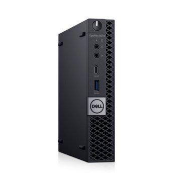 Настолен компютър Dell Optiplex 5070 MFF (N007O5070MFF_UBU), осемядрен Coffee Lake Intel Core i7-9700T 2.0/4.3 GHz, 8GB DDR4, 256GB SSD, 5x USB 3.1, клавиатура и мишка, Linux image