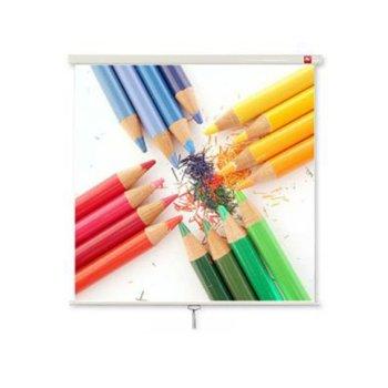 """Екран Avtek Wall Standard 200, ръчен за монтаж на стена или таван, Matt White, 2000 x 2000 мм, 111"""", 1:1 image"""