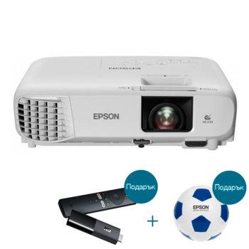 Проектор Epson EB-FH06 с подарък медиа плейър Xiaomi Mi TV Stick и футболна топка Epson, 3LCD, Full HD (1920 x 1080), 16 000:1, 3500lm, HDMI, VGA, USB  image