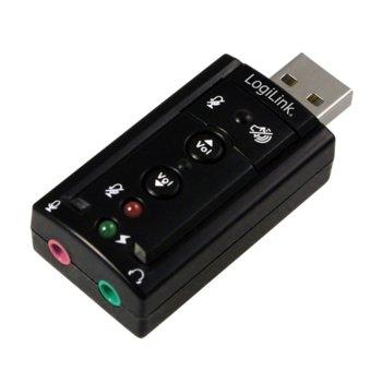 Външна звукова карта LogiLink UA0078, 7.1, USB image