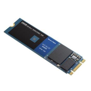 Памет SSD 250GB WD Blue SN500, NVMe, M.2 (2280), скорост на четене 1700MB/s, скорост на запис 1300MB/s image