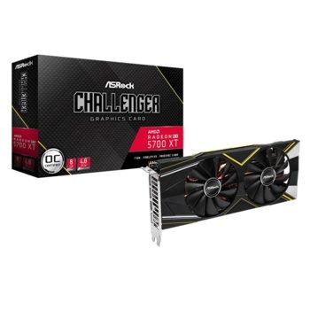 Видео карта AMD Radeon RX 5700 XT, 8GB, Asrock Challenger D OC, PCI-E 4.0, GDDR6, 256bit, Display Port, HDMI image