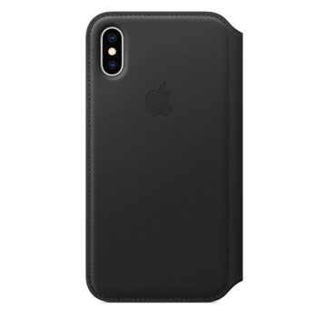 Apple iPhone XS Leather Folio - Black product