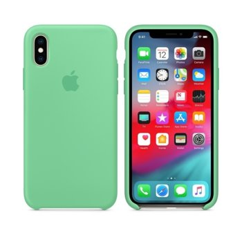 Apple iPhone XS Silicone Case - Spearmint product