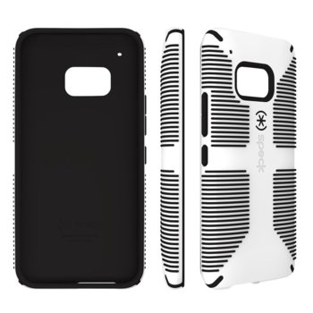 Калъф за HTC One M8, гумен, Speck, CandyShell Grip White/Black, бял image