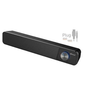 Мини Аудио Система Kisonli i-560, 1.0, черен, 3.5mm стерео  image