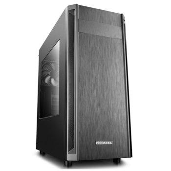 Кутия Deep Cool D-SHIELD V2, ATX/Micro ATX/Mini-ITX, 1x USB 3.0, 2x USB 2.0, страничен прозорец, черна, без захранване image