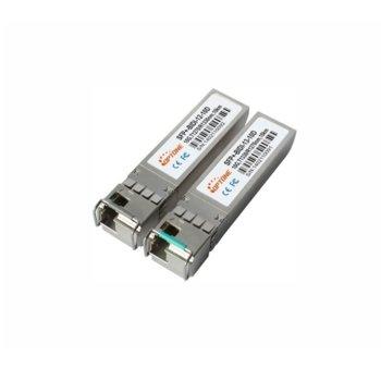 SFP модул Optone SFP+ SFPplus-BIDI-13-10D, 1x LC интерфейс, до 10km, single-mode, комплект 2 бр. image