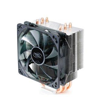 Охлаждане за процесор DeepCool GAMMAXX 400 V2 (Blue), съвместимост с Intel LGA 1151/1150/1155/1366 & AMD AM4/FM2+/FM2/FM1/AM3+/AM3/AM2+/AM2 image
