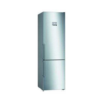 Хладилник с фризер Bosch KGN39HIEP, клас A++, 366 л. общ обем, свободностоящ, 273 kWh/годишно, NoFrost, Multi Airflow, инокс image