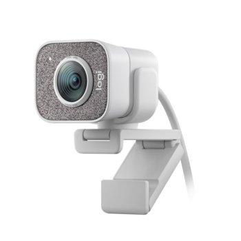 Уеб камера Logitech StreamCam, микрофон, Full HD (1080p/60FPS), Smart Auto-Focus, проектирана за стрийминг, USB 3.1 Gen1 Type C, бяла image