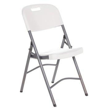 Трапезен стол Carmen 9936, сгъваем, HDPE, бял image