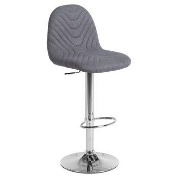 Бар стол Carmen 3085, дамаска, хромирана база, газов амортисьор, коригиране на височината, кафяв image